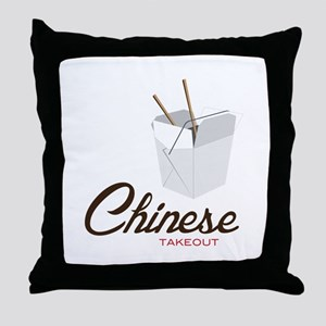 Chinese Takeout Throw Pillow