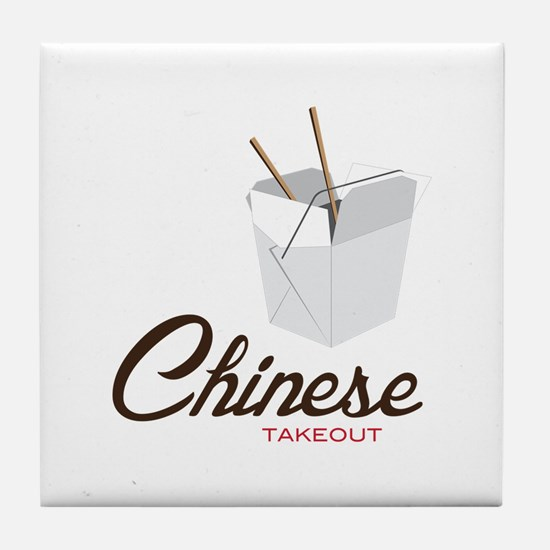 Chinese Takeout Tile Coaster