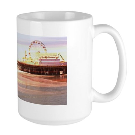 Santa Monica Pier Sunrise Large Mug