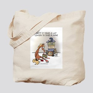 Horse Health Shoe A Mare Tote Bag
