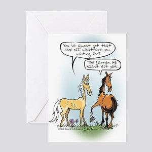 Horse Health - Shoe Toss Greeting Card