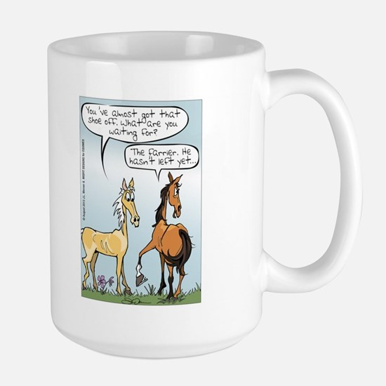 Horse Health - Shoe Toss Large Mug