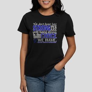 Rectal Cancer HowStrongWeAre Women's Dark T-Shirt
