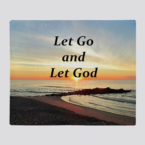LET GO AND LET GOD Throw Blanket