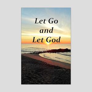 LET GO AND LET GOD Mini Poster Print