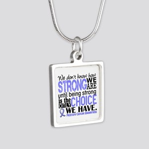 Prostate Cancer HowStrongW Silver Square Necklace