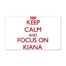 Keep Calm and focus on Kiana Wall Decal