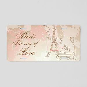 Paris - Eiffel Tower Aluminum License Plate