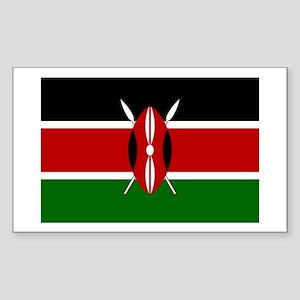 Kenya Rectangle Sticker