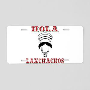 Lacrosse HOLA Laxchachos Aluminum License Plate