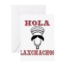 Lacrosse HOLA Laxchachos Greeting Cards