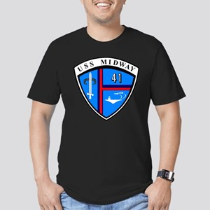 Personalized USS Midwa Men's Fitted T-Shirt (dark)