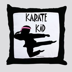 Karate Kid (Girl) Throw Pillow