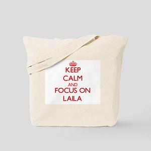 Keep Calm and focus on Laila Tote Bag