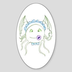 Baby Cthulu Oval Sticker