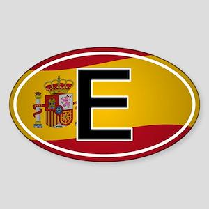 Spanish Oval Car Sticker - Flag Design