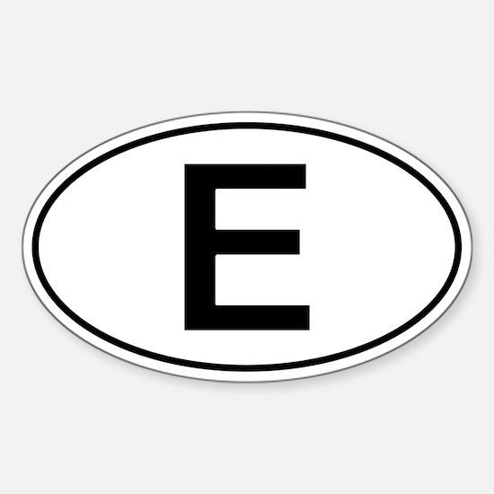 Spanish Oval Car Sticker - E For Espana