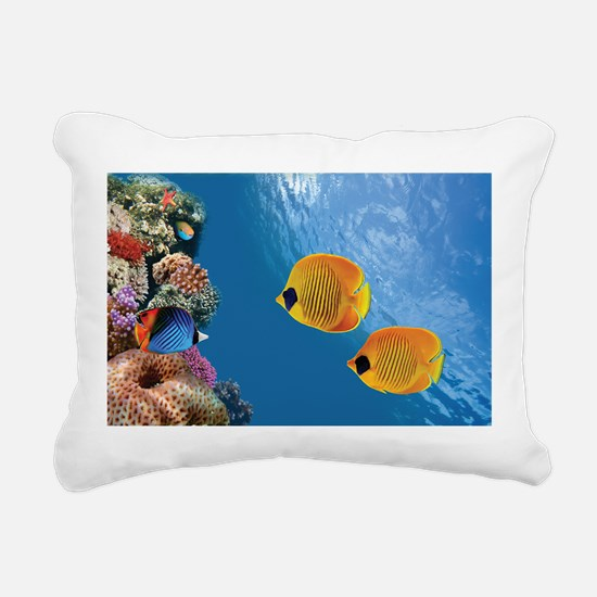 Coral Colony Rectangular Canvas Pillow