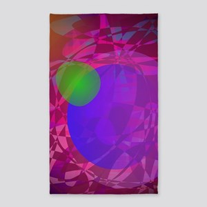 Vector Abstract Art Design 3'x5' Area Rug
