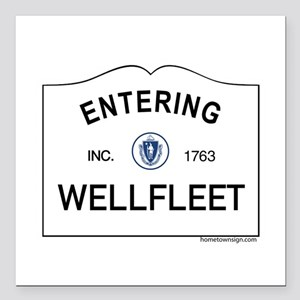 """Wellfleet Square Car Magnet 3"""" x 3"""""""