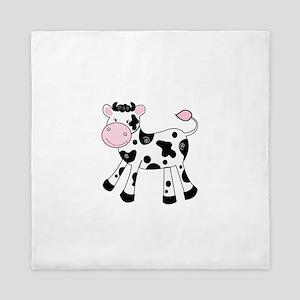 Black and White Dairy Cute Cow Queen Duvet