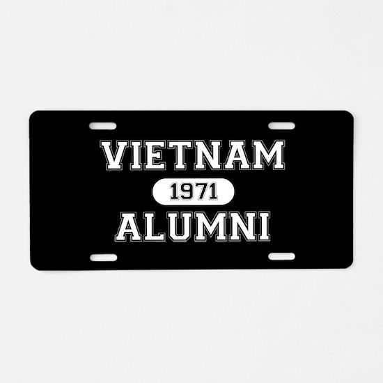 VIETNAM ALUMNI 1971 Aluminum License Plate
