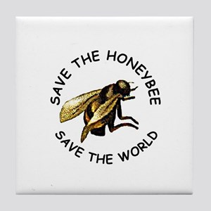 Save The Bee Tile Coaster