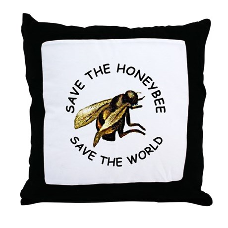 Save The Bee Throw Pillow