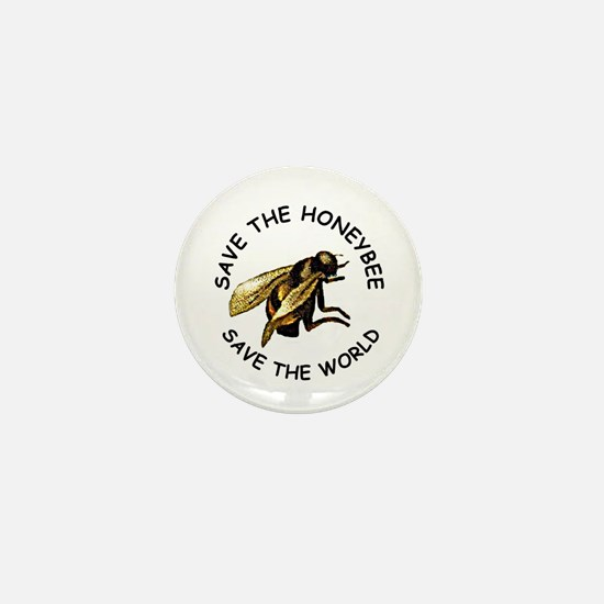 Save The Bee Mini Button