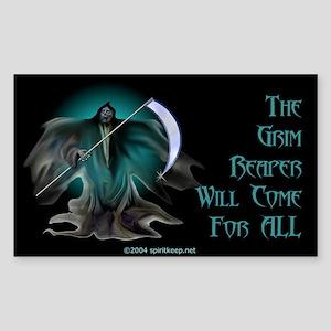 Grim Reaper Rectangle Sticker