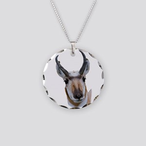 Pronghorn Necklace Circle Charm