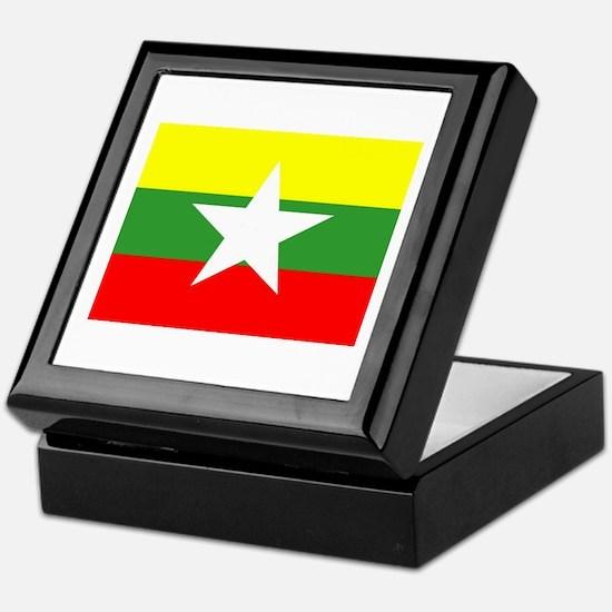 Myanmar Flag Keepsake Box