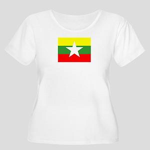 Myanmar Flag Plus Size T-Shirt