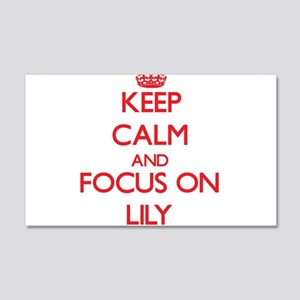 Keep Calm and focus on Lily Wall Decal