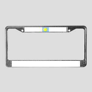 Palau Flag License Plate Frame
