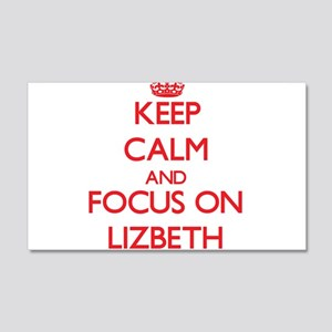 Keep Calm and focus on Lizbeth Wall Decal