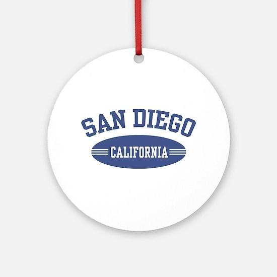 San Diego Ornament (Round)