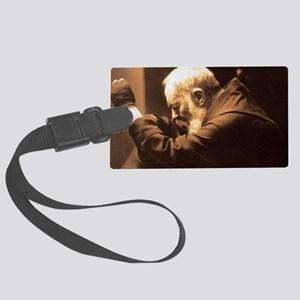 Padre Pio Large Luggage Tag