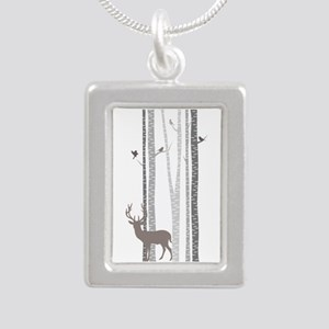 Birch Trees With Deer Necklaces