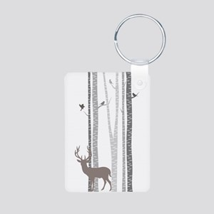 Birch Trees With Deer Keychains