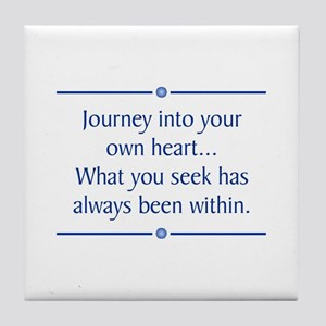 Journey Into Heart Tile Coaster
