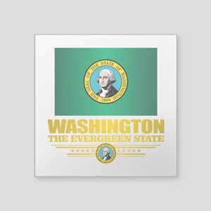 Washington Flag (v15) Sticker