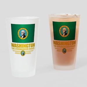 Washington Flag (v15) Drinking Glass