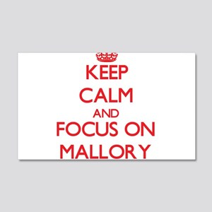 Keep Calm and focus on Mallory Wall Decal