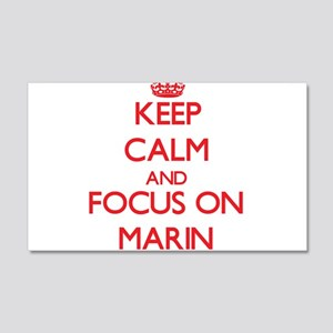 Keep Calm and focus on Marin Wall Decal