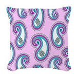 14 Inch Paisley Design Woven Throw Pillow