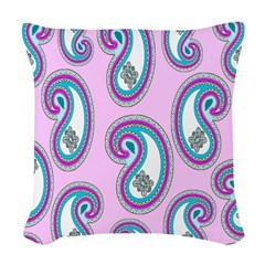 14 Inch Paisley Design Woven Throw Pillow