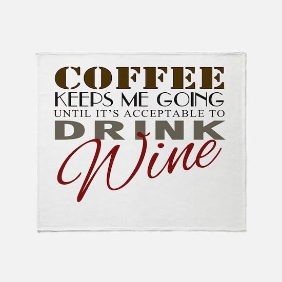 Coffee keeps me going Throw Blanket