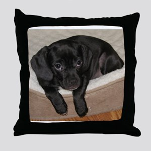 Jewel the Puggle puppy Throw Pillow