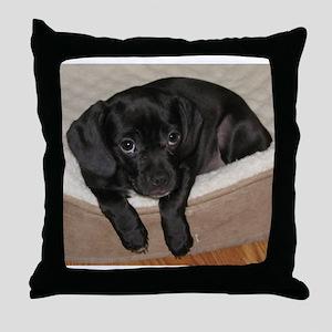 Jewel the Puggle puppy Throw Pillow